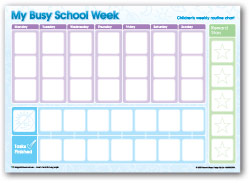 My Busy School Week Chart